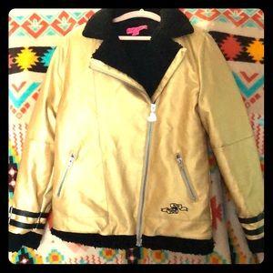 Betsy Johnson sherpa lined jacket 🧥